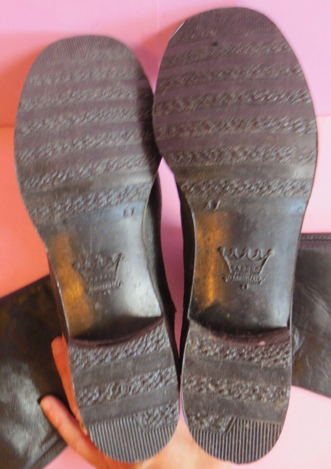 Stivali pelle nero, foderato foderato nero, cotone ~ 80er VINTAGE TG. 36 n. 07 02965d