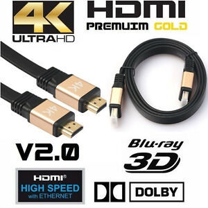 Cable-HDMI-Premium-v2-0-Dorado-alta-velocidad-HDTV-UltraHD-HD-2160p-4K-3D