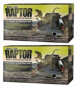 U-POL-5010-Raptor-Black-2-Liter-Urethane-Roll-On-Truck-Bed-Liner-Kits-2-Pack