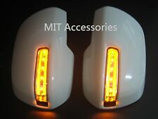 Toyota SIENNA 11-17 LED mirror cover turn signal lights Parking lamps-UNPAINTED