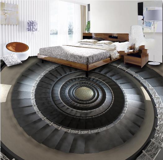 3D Round Spiral Stairs 4 Floor WallPaper Murals Wall Print Decal AJ WALLPAPER US