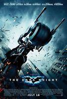 The Dark Knight (2008) Original Movie Poster batmobile Version Rolled 2-sided