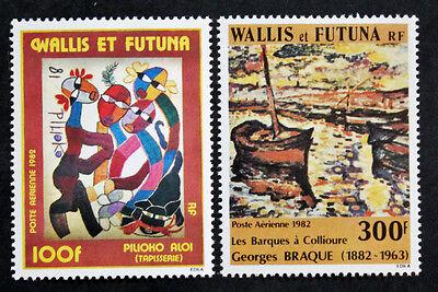 AusgewäHltes Material cyn23 Briefmarke Wallis Und Futuna Yvert Tellier Luft-n°114 Et 115 Ns