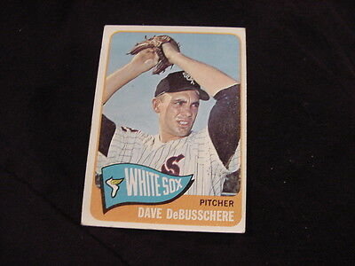 Chicago White Sox Beautiful Vintage 1965 Topps #297 Dave Debusschere Vivid And Great In Style Vgex!