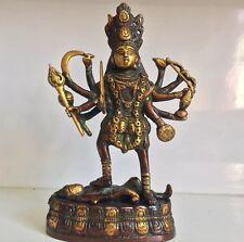 Kaali LARGE 23cms Brass Hand carved Statue Shiva  Durga Kali Maa Hindu Goddess