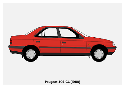 Peugeot 406 Coupe A3 Poster Print
