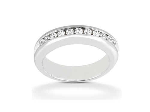 11Stone 0.77ct Diamond Wedding Band Ring Platinum Round Cut H SI2 Channel Set