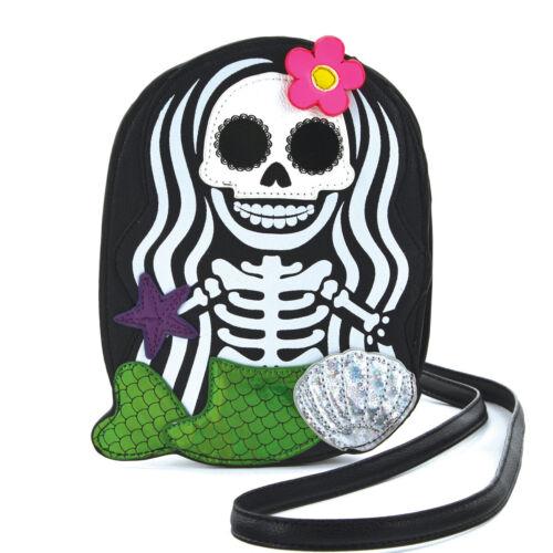 Sleepyville Critters Squelette Bandoulière Sac à Main Crâne Sirène épaule adorable