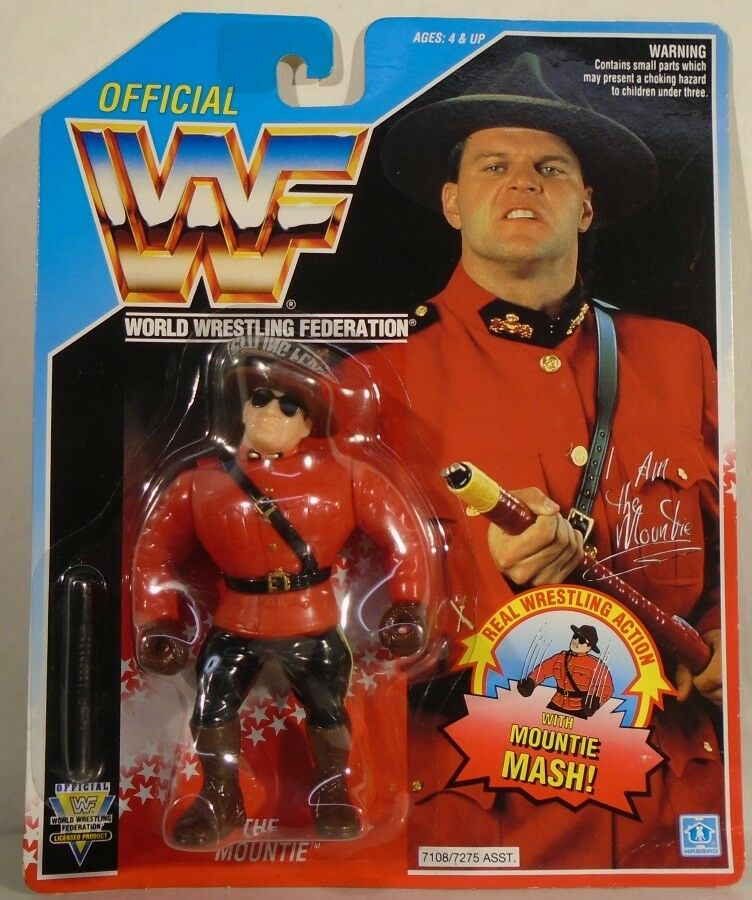 WWF Hasbro The Mountie With  Mountie Mash Action  Mint On Card Nice Condition