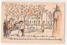 "CPA illustrateur Warnod - ""le belge attend la patronne ..."" 1917"