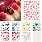 1Sheet Nail Art 3D Decal Stickers Glittery Hearts Valentine's Day