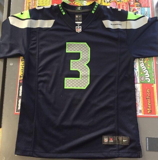 7427b60b3 Youth Nike NFL On Field Jersey Sz L MSRP  75 Seattle Seahawks  3 Russell  Wilson