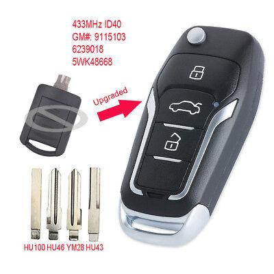 Vauxhall Opel HU100 key ID40 CUT TO CODE Agila Corsa Meriva Tigra