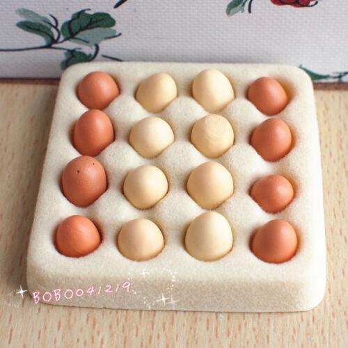 Dollhouse Miniature 1:12 Toy Kitchen Food An Eggs Tray Length 4cm DC76A