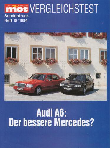 MERCEDES W 124 e280 speciale pressione MOT 19//94 reprint 1994 relazione di prova AUDI a6 2.8