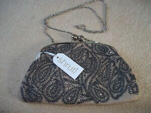 feltro di con Bella con in feltro borsa Shruti borsa stampa Bnwt in paisley beige w8B0vw