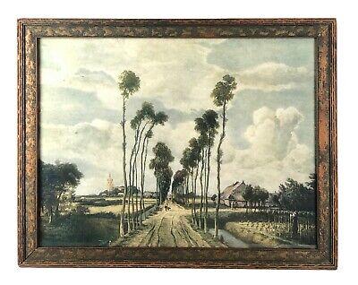 The Avenue At Middelharniss Meindert Hobbema Vintage Dutch Painting Framed Print Ebay
