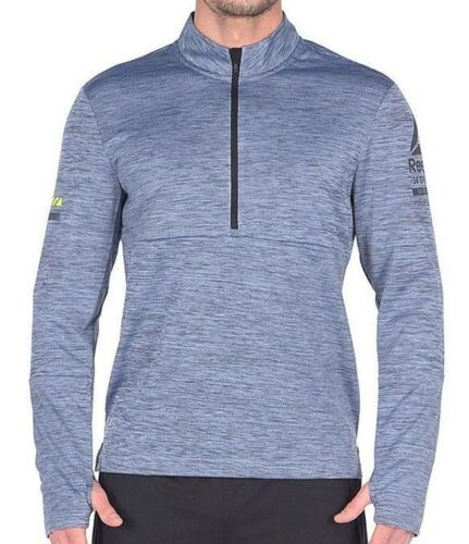 Reebok Hommes One Series Running à manches longues 1//2 Zip Mock Neck Pull Over Sweat