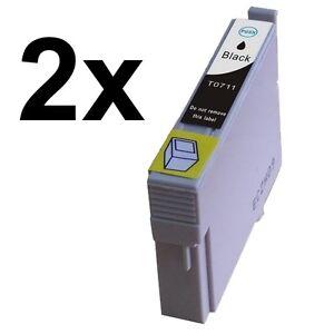 2 X STAMPANTE INCHIOSTRO BLACK COMPATIBILE CON EPSON Stylus sx400 sx400 WIFI