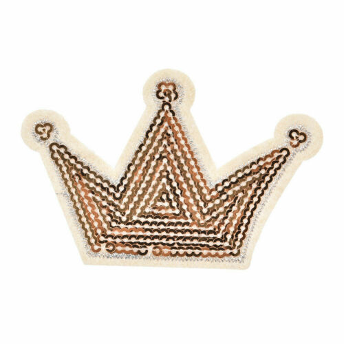 Shiny sequins crown iron on clothes patch garment accessory for DIY applique WF