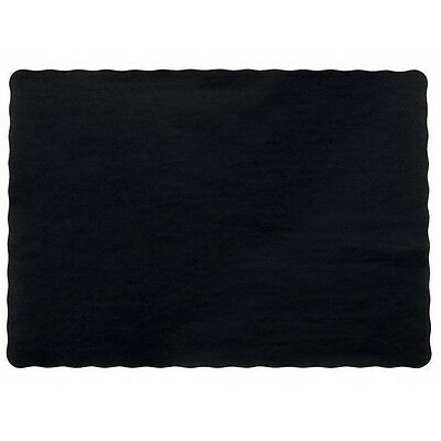 "25 Paper Placemats 10"" X 14"" Dinner Size 26 Colors - Black"