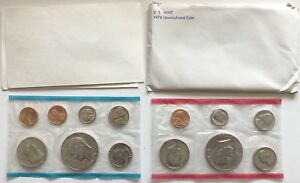 USA-1974-Uncirculated-Mint-Set-Philadelphia-Denver-San-Francisco-Umschlag-1c-1