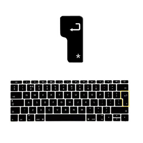 "New UK EU Version Soft Keyboard Cover Skin For Apple New Macbook Mac 12/"" 12inch"