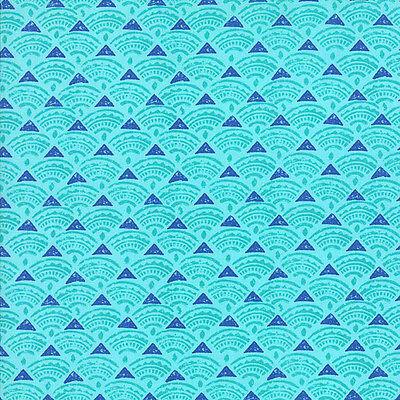 Horizon 27197-24 Ocean Ultramarine Tide Priced Per ½ Yard Moda Quilt Fabric
