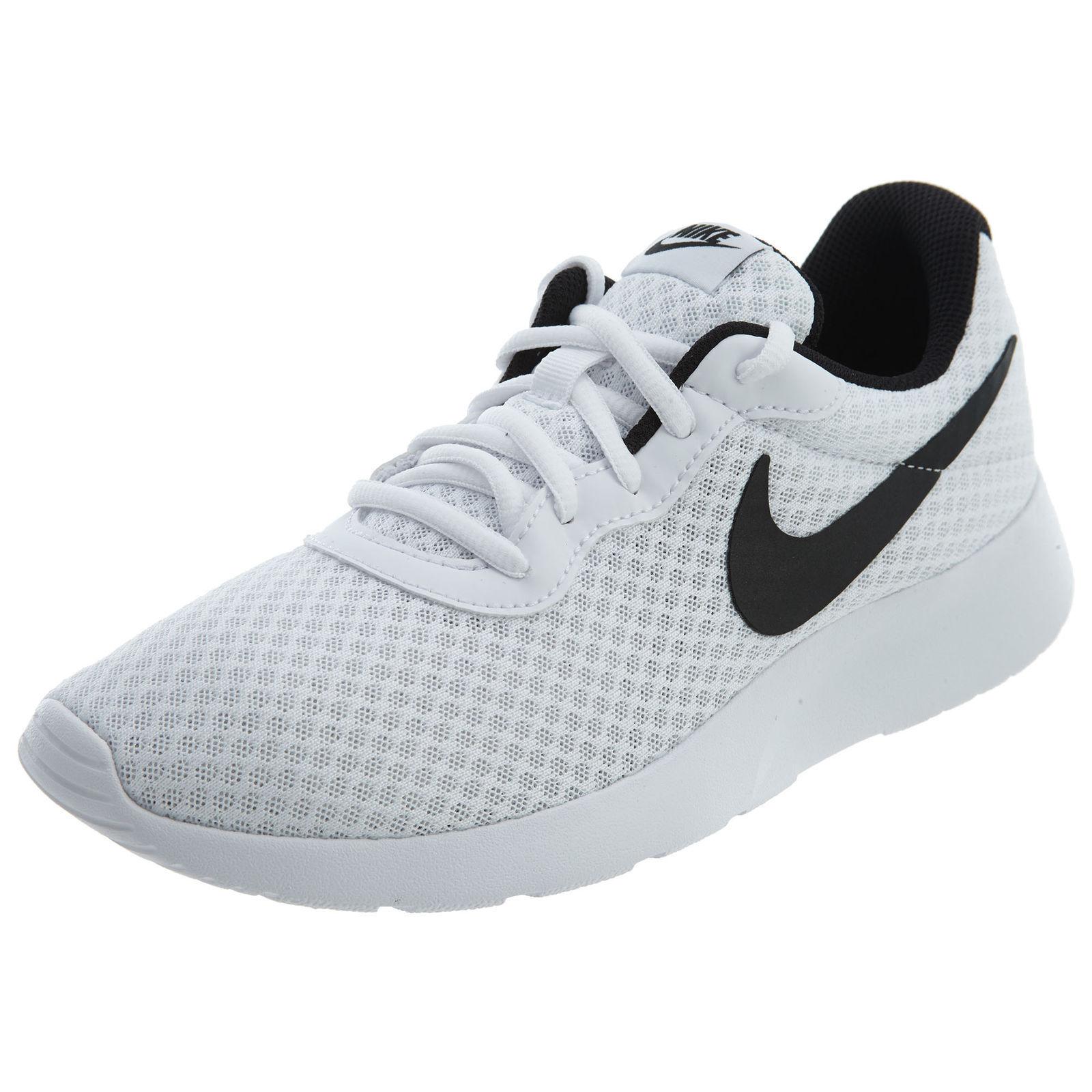 Men's Nike Tanjun Running Shoes White/Black Sizes 8-13 NIB 812654-101