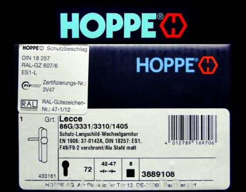 HOPPE LECCE 86G//3331//3310//1405 Türbeschlag PZ 72 Schutz-Wechselgarnitur