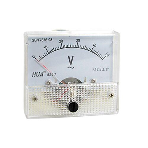 AC Analog meter panel 50 V Voltmètre Voltmètres 85L1 gabarit 0-50 V