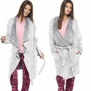 Ladies Super Soft Fleece Waterfall Wrap Robegrey Designer