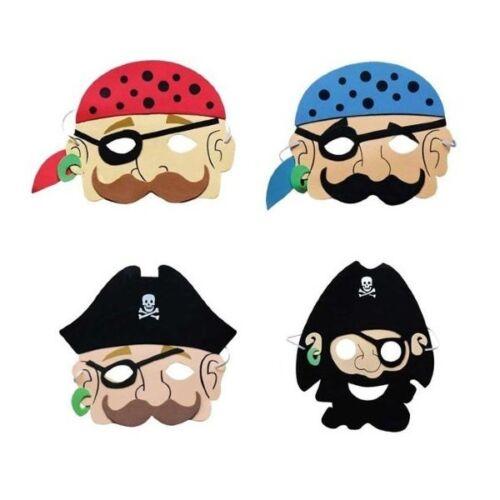 New Set of 4 Assorted Foam Pirate Masks Children/'s Parties Fancy Dress