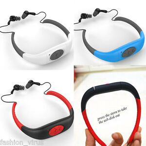 8GB-Waterproof-Sports-MP3-Player-FM-Radio-w-Headset-For-Swimming-Surfing-Diving