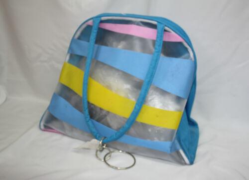SUMMER / BEACH BAG * perfetto per le vacanze * (blu / giallo / rosa) 95a042 / ss1912