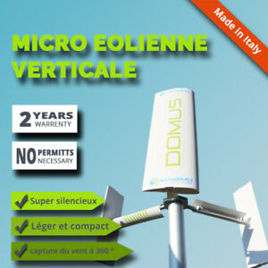 Details zu Mini Generateur éolienne axe vertical DOMUS maison toit jardin  terrasse énergie
