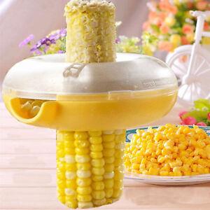 Utility-Kitchen-Tool-Corn-Cob-Kerneler-Peeler-Thresher-Stripper-Remover-CutterHV