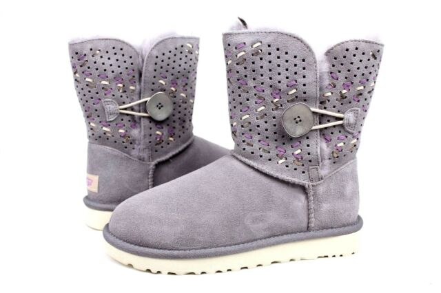 fb3c1cd793d UGG Pencil Lead Tehuano Bailey Button II Sheepskin BOOTS US 6/ EUR 37