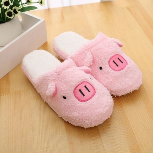 1Pair Men Women Couple Winter Pig Indoor Slippers Anti-slip Home Warm Shoes New