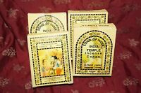 Song Of India Temple 4 Boxes 100 Cones Free Shipping World Famous Incense