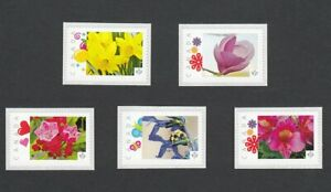 BEE-KALMIA-MAGNOLIA-LILY-NARCISSUS-SALVIA-Picture-Postage-sts-Canada2014-p83fl5