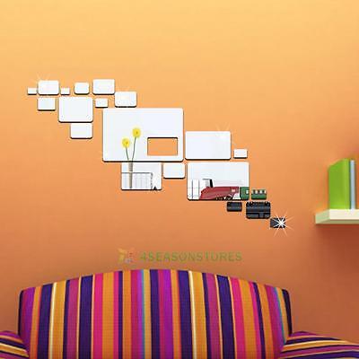 DIY Removable Home Room 3D Wall Mirror Sticker Art Vinyl Mural Decor Decal
