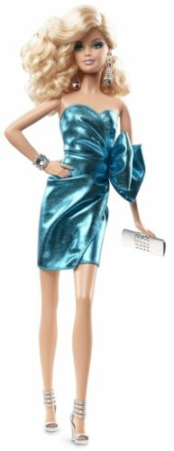 Barbie The Look City Shine Blue Dress Doll Black Label 2014 CJF49