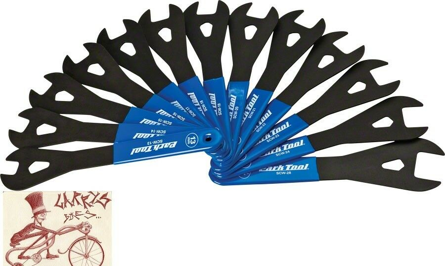 PARK TOOL SCW-SET.3 CONE WRENCH SET 13-24,26 AND 28MM BIKE BICYCLE TOOL