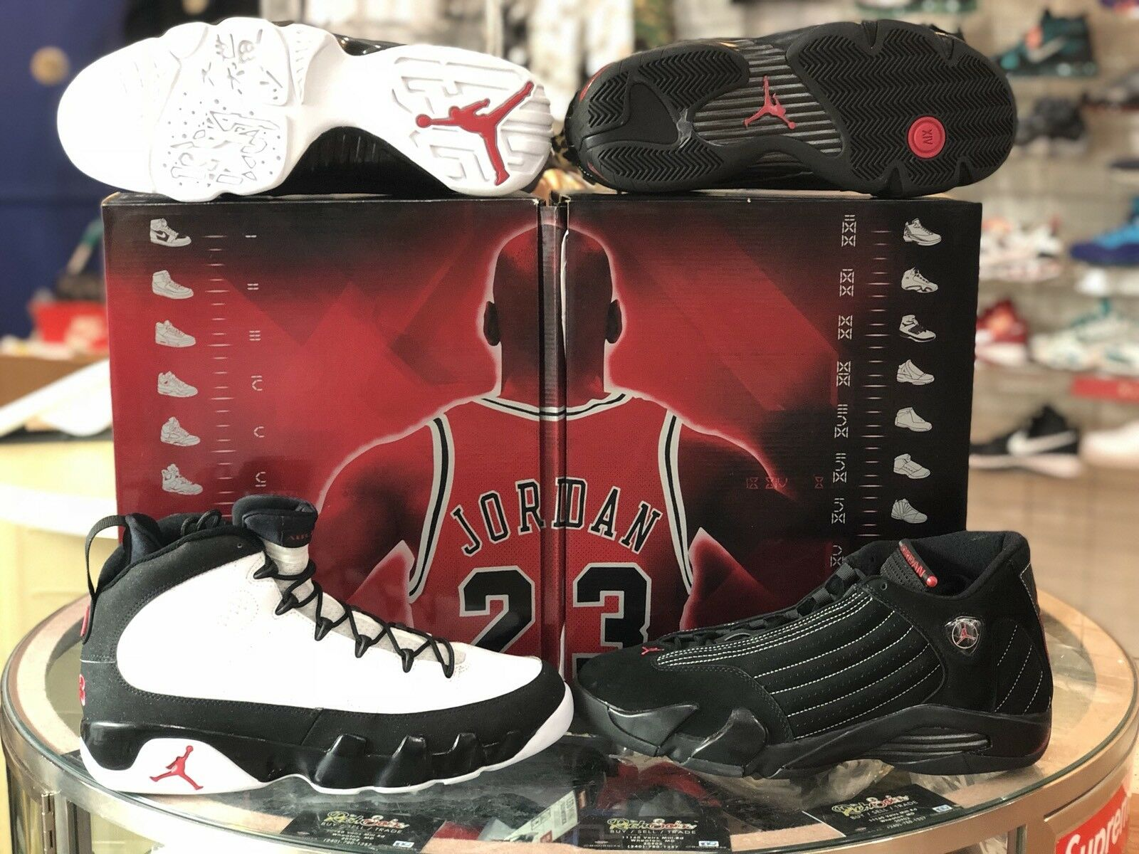 Nike Air Jordan Collezione 14 9 New DS 12 318541 992 Countdown Pack DMP Retro
