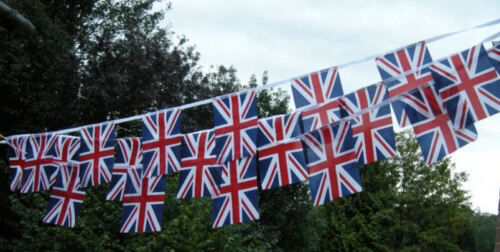 Union Jack Fabric Bunting various lengths free 1st Class Post
