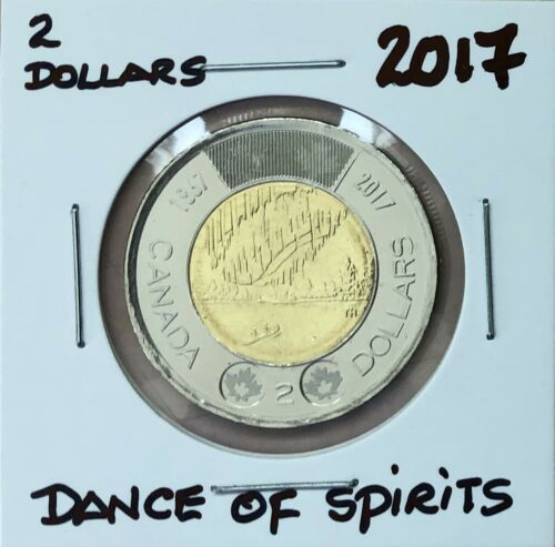 2017 ~ 2 dollar DANCE OF THE SPIRIT ~ from RCM roll BU//UNC