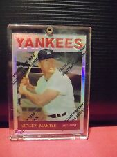 1996 Topps Mantle Finest Refractors #19 Mickey Mantle 1969 Topps