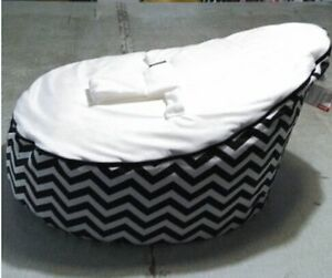 Outstanding Details About Red Bule Black Baby Infant Bean Bags Snuggle Seat Bed 2 Upper Layer No Filling Squirreltailoven Fun Painted Chair Ideas Images Squirreltailovenorg