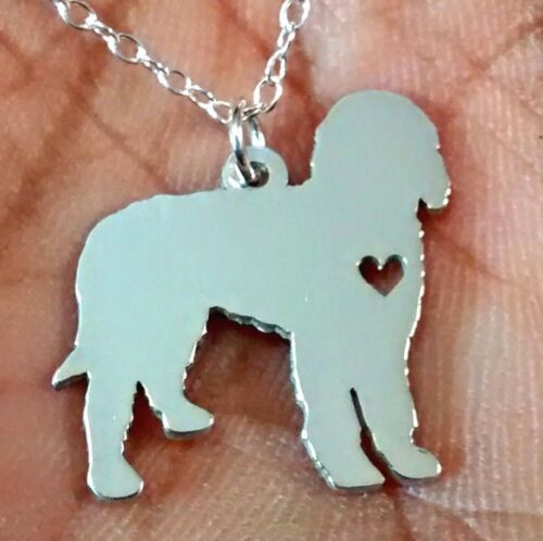 Golden Doodle Necklace Gold Sterling Silver Jewelry Engrave Rose Gold